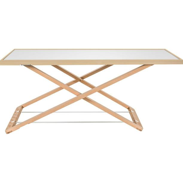 Lorell Ultra-slim Desk Riser, White, Natural