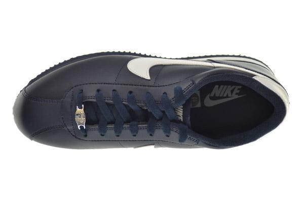 Nike Men's Cortez Basic Leather '06 Casual Shoe (OBSIDIAN/WHITE/OBSIDIAN, 8.5 D(M) US)