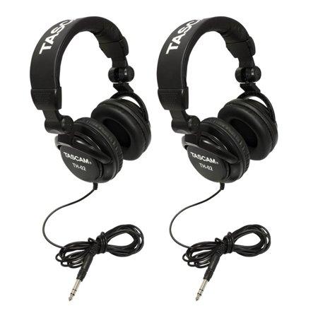 TASCAM TH-02B Foldable Recording Mixing Home Studio Headphones - Black (2