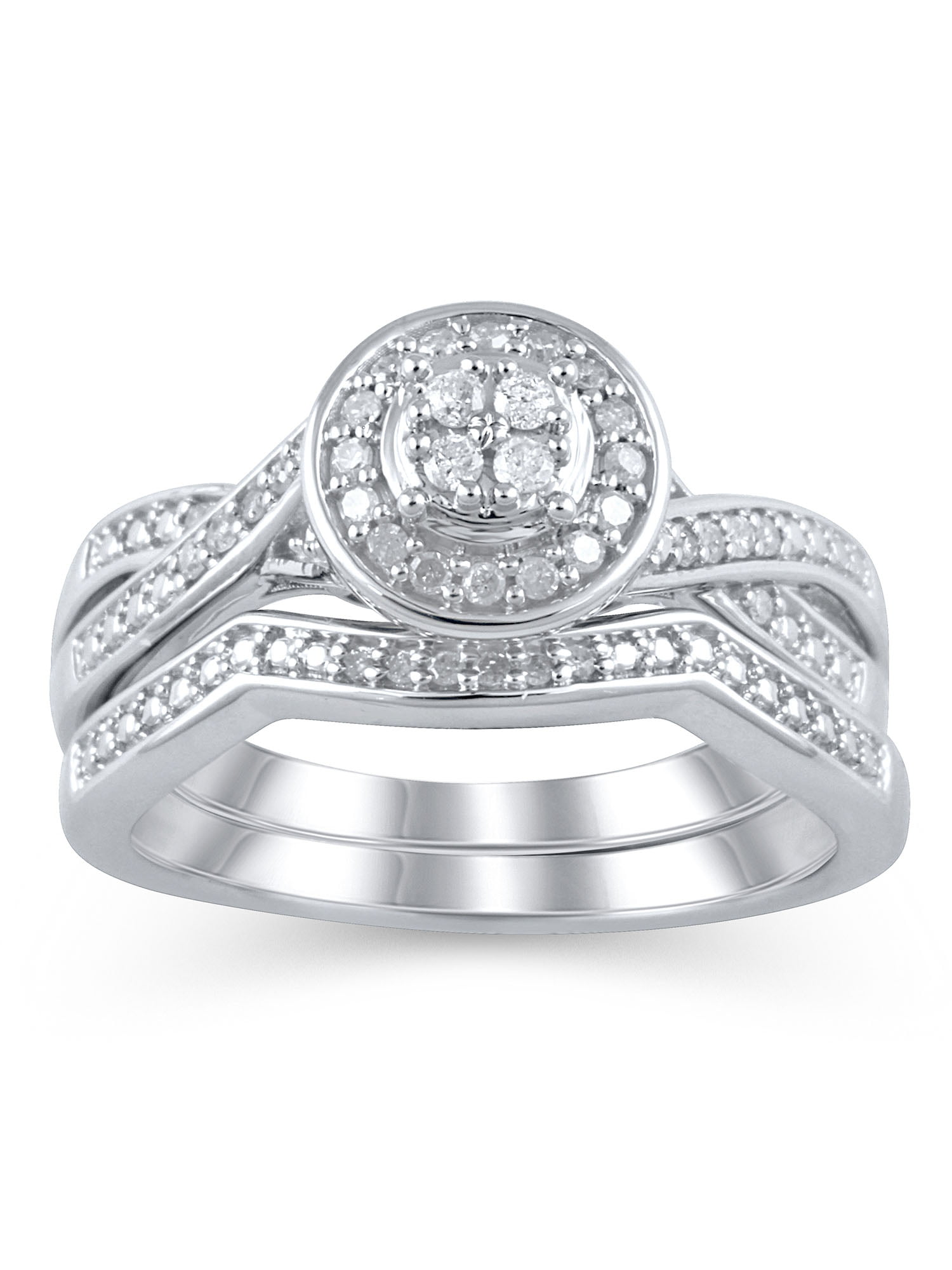 Forever Bride Wedding Ring Sets Walmartcom