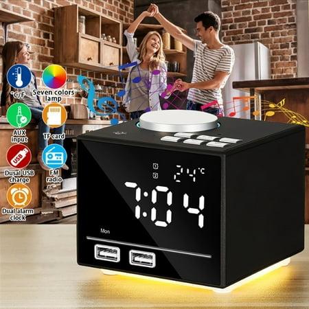 Multi-function Alarm Clock Modern Smart Digital LED Clock TF/FM MP3 Music Speaker Player bluetooth Wireless Clock
