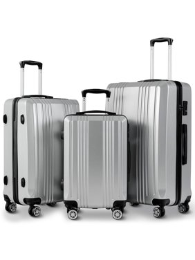 19b58812b8 Product Image Costway 3Pc Luggage Set 20   24   28   Travel Trolley Suitcase