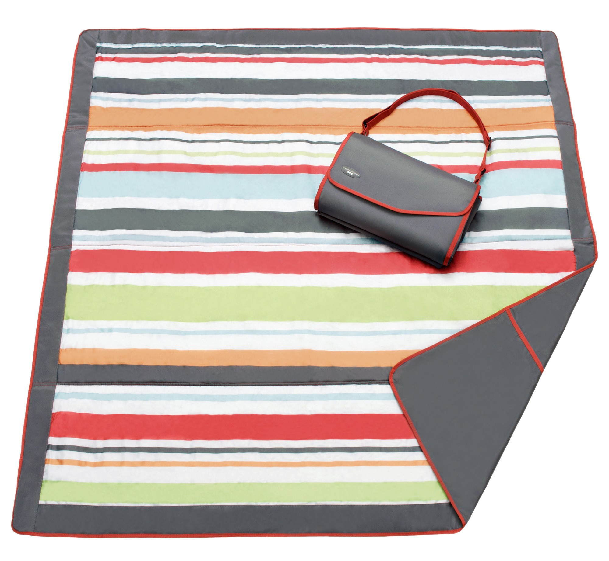 JJ COLE Outdoor Mat 5 X 7 - Gray Red