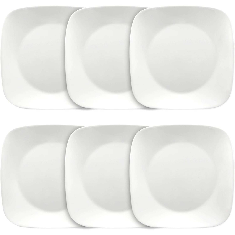 Corelle Square Pure White 20.20