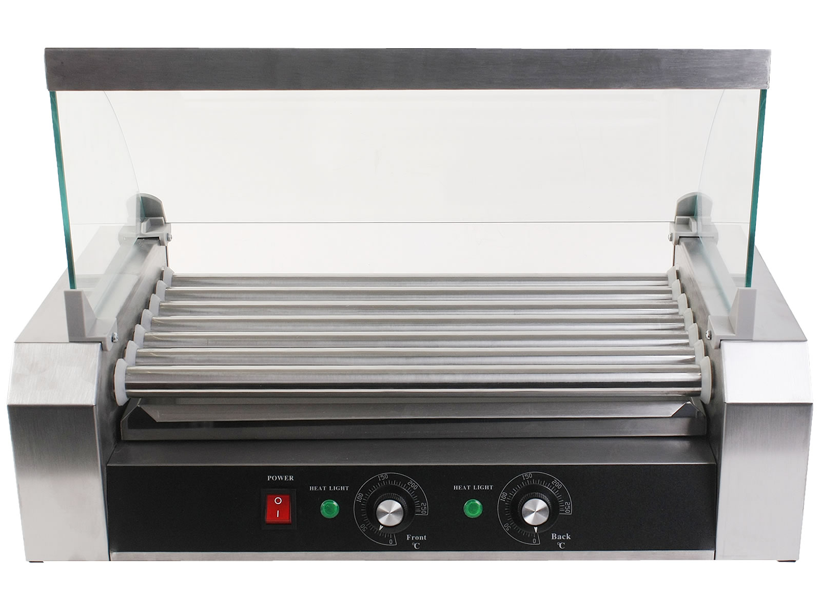 Costway Commercial 18 30 Hot Dog Hotdog 7 11 Roller Grill Cooker Machine W Cover