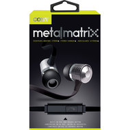 Coby Metal Matrix Stereo Earbuds with In-Line Mic - Silver (CVE-126)