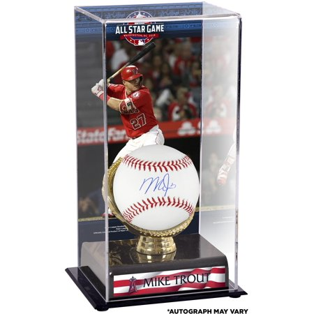 Angels Baseball Memorabilia - Mike Trout Los Angeles Angels Autographed Baseball and 2018 MLB All-Star Game Gold Glove Display Case with Image - Fanatics Authentic Certified