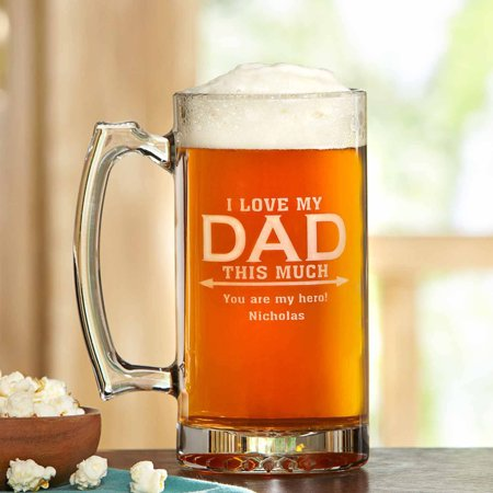 Love Dad This Much Beer Mug, 25 oz -