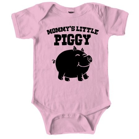 Crazy Dog Tshirts   Mommys Little Piggy Cute Piglet Baby Creeper Bodysuit For Infants