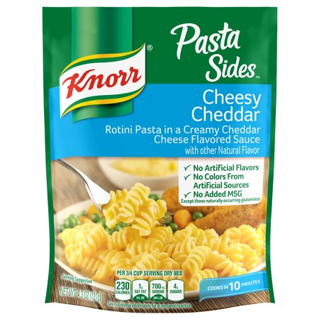 (8 Pack) Knorr Cheesy Cheddar Pasta Sides Dish, 4.3 oz