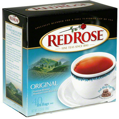 Red Rose Original Premium Blended Mountain Estate Black Tea, 3.1 oz, (Pack of 6) ()