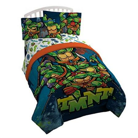 nickelodeon teenage mutant ninja turtles twin/full reversible comforter ()