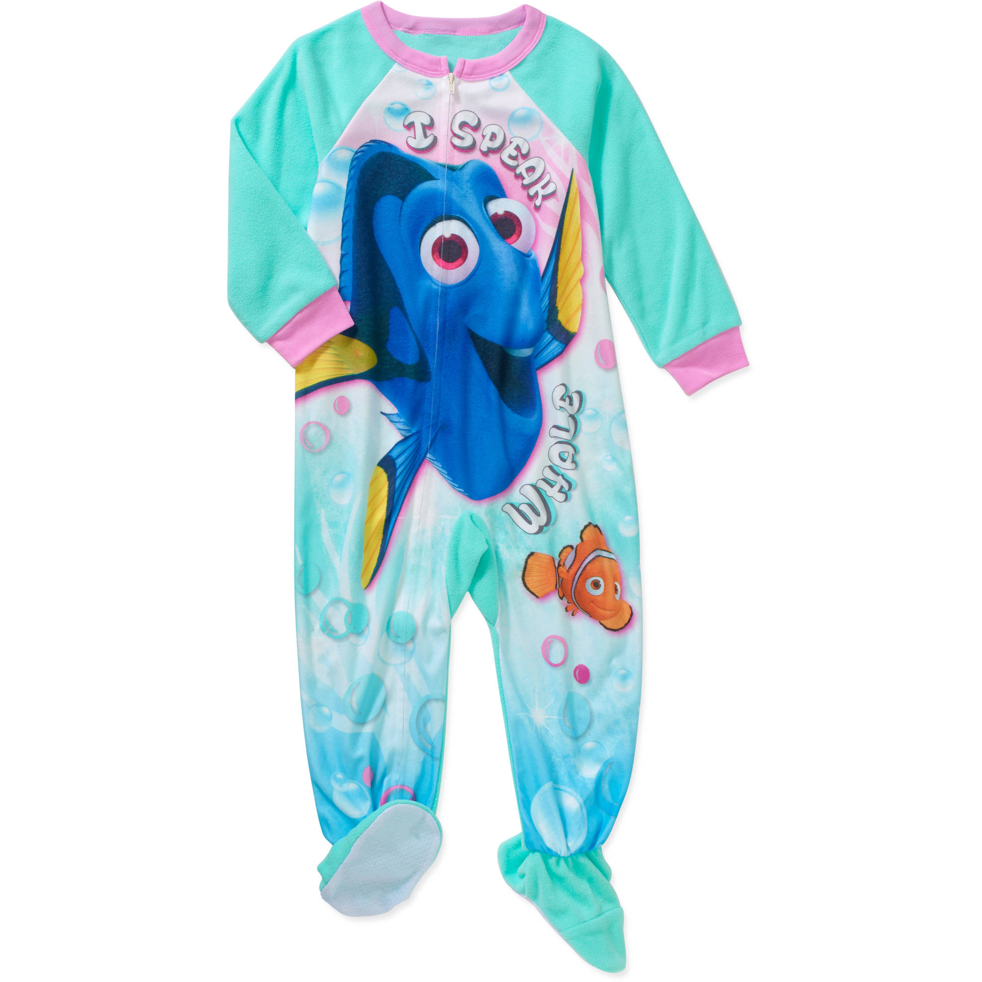 Finding Dory Toddler Girls' Micro Fleece Footed PJ