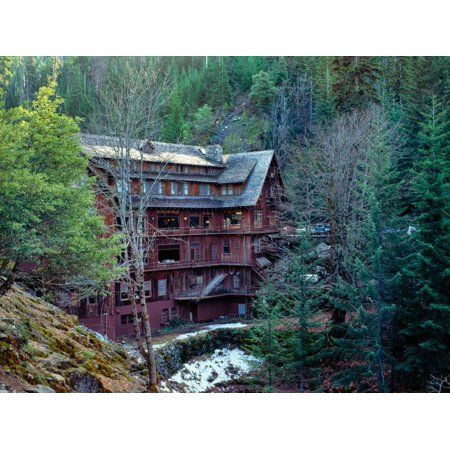 chalet in a forest, Oregon Caves National Monument, Siskiyou National Forest Print Wall -