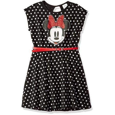 Polka Dot Belted Dress (Little Girls & Big Girls)