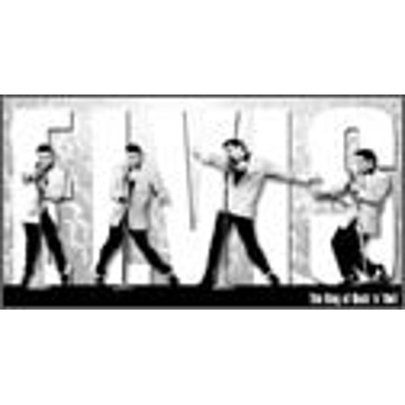Montage Tin Sign (Desperate Enterprises Vintage Metal Sign - Elvis King Montage 16