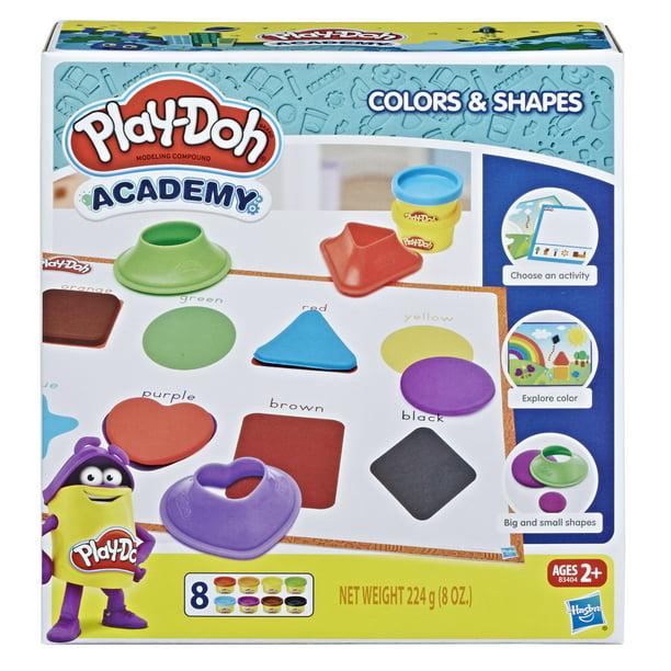 Play-Doh Shape & Learn Colors & Shapes with 8 Cans & 5+ Tools