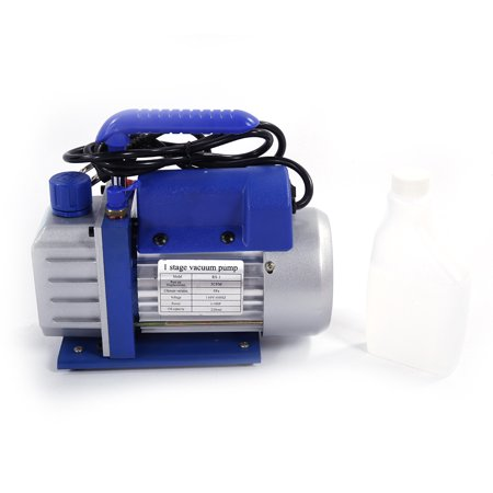 Ktaxon Professional 5/3CFM 1/3 1/4 HP Single Stage Rotary Vane Deep Vacuum  Pump Air Conditioning Tool