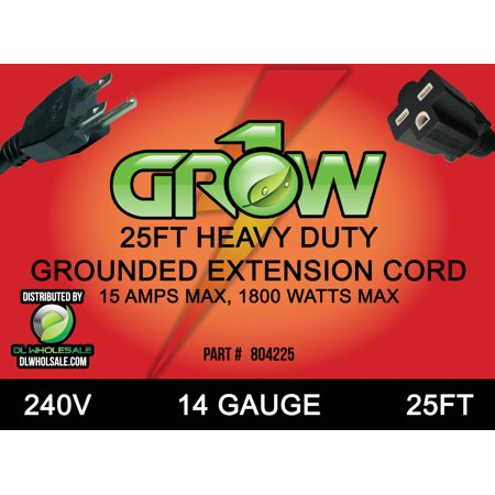 Grow1 240V Extension Cord 14 Guage 25' ()
