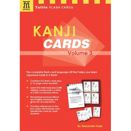 Kanji Cards Kit Volume 3 : Learn 512 Japanese Characters Including Pronunciation, Sample Sentences & Related Compound Words