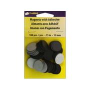 """ProMag Magnet 3/4"""" Round Adhesive 100pc"""