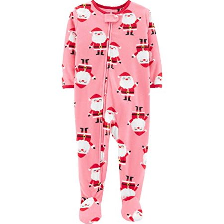 Child of Mine Toddler Baby Boys Girls Footed Blanket Sleeper Pajamas Santa Baby (Pink, 24m)](Mime Robe)