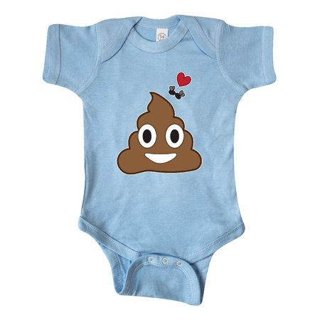 Valentine's Day Love Poop Emoji and Flies Infant Creeper