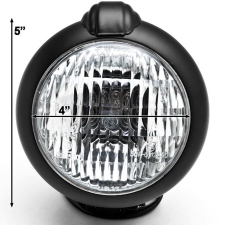 Universal Black Motorcycle Headlight With Bracket For Kawasaki