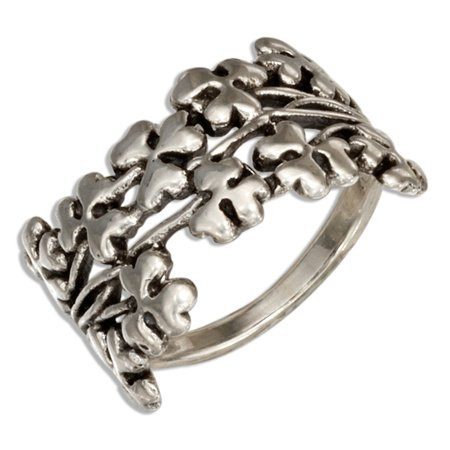 Shamrock Ring (STERLING SILVER CLOVERS AND SHAMROCKS)