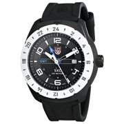 5027 Men's SXC Black Dial Black Silicone Strap GMT Dive Watch