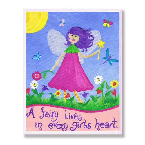 Fairy Lives in Every Girls Heart Rect Wall Plaque