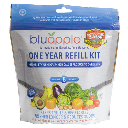 Aureus Product Innovations Inc Bluapple One-Year Refill Kit with Activated Carbon (Set of 8)