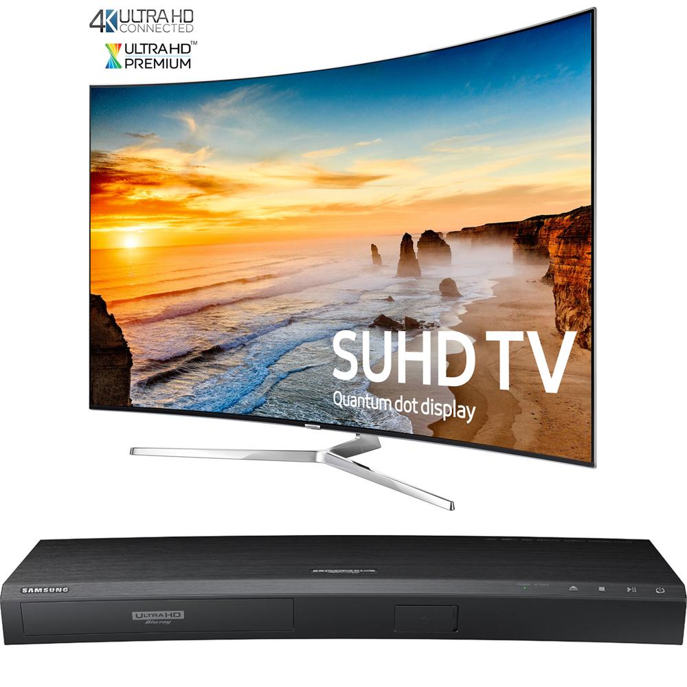 Samsung Curved 65-Inch 2160p Smart 4K SUHD LED TV KS9500 9-Series (UN65KS9500FXZA) with Samsung 3D Wi-Fi 4K Ultra HD... by Samsung