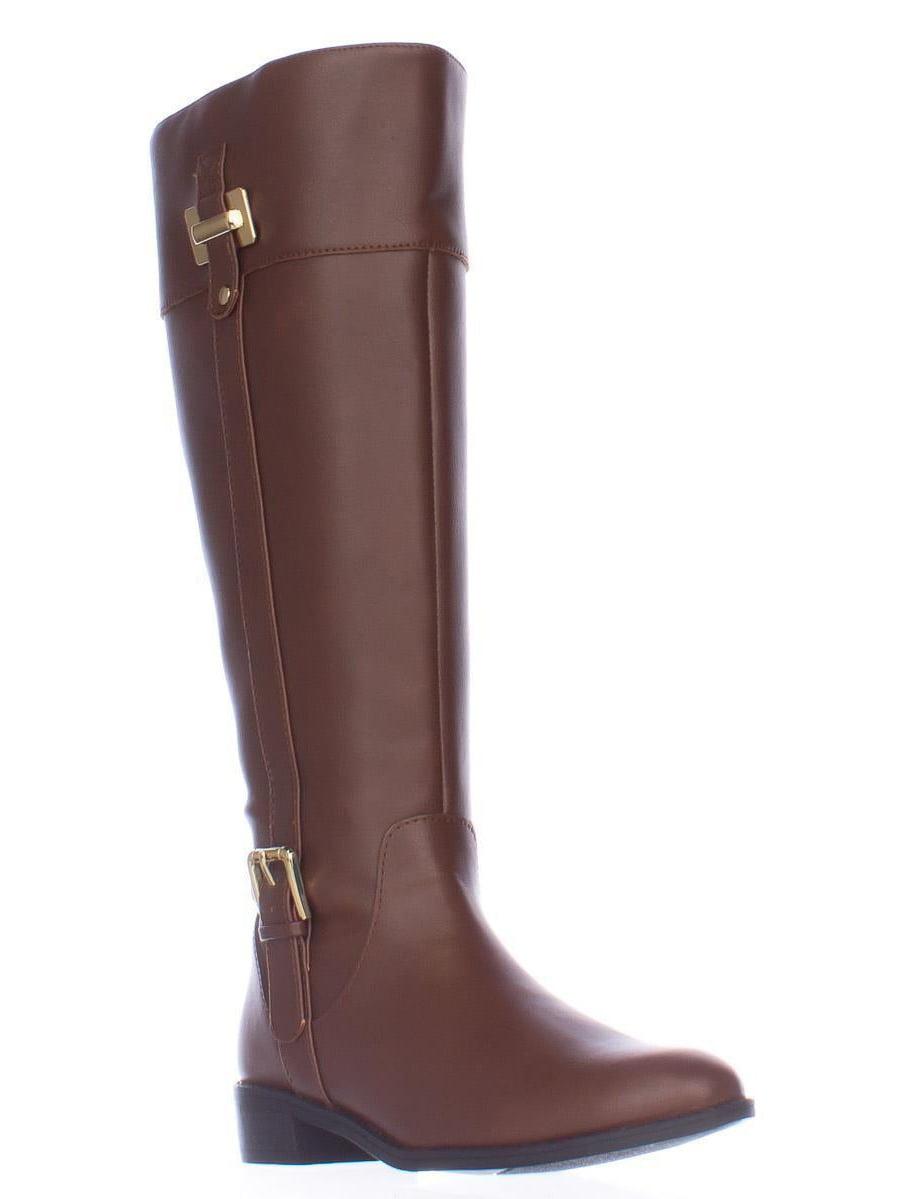Womens Karen Scott Deliee Wide-Calf Keen-High Boots Cognac by Karen Scott
