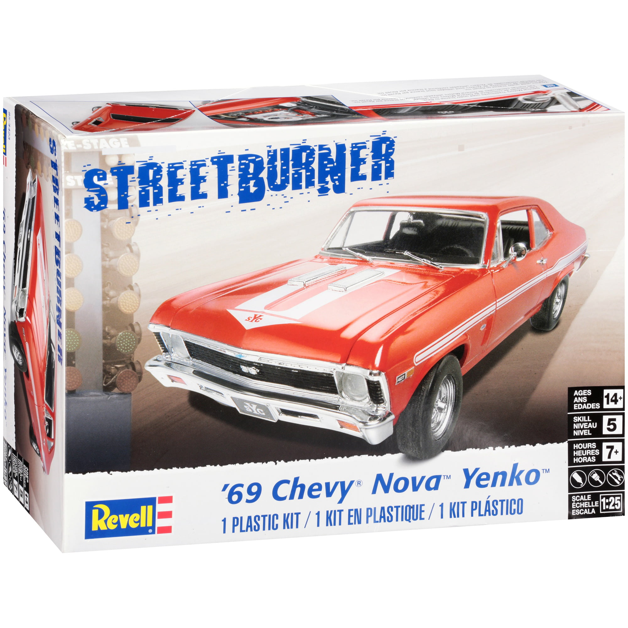 Revell Streetburner '69 Chevy Nova Yenko Model Kit 111 pc Box by Revell Inc.