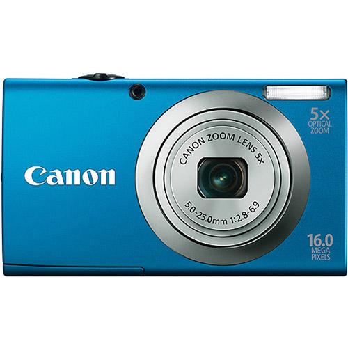 "Canon PowerShot A2300 Blue 16MP Digital Camera w/ 5x Optical Zoom Lens, 2.7"" LCD Display, HD Video, Digital Image Stabilization"