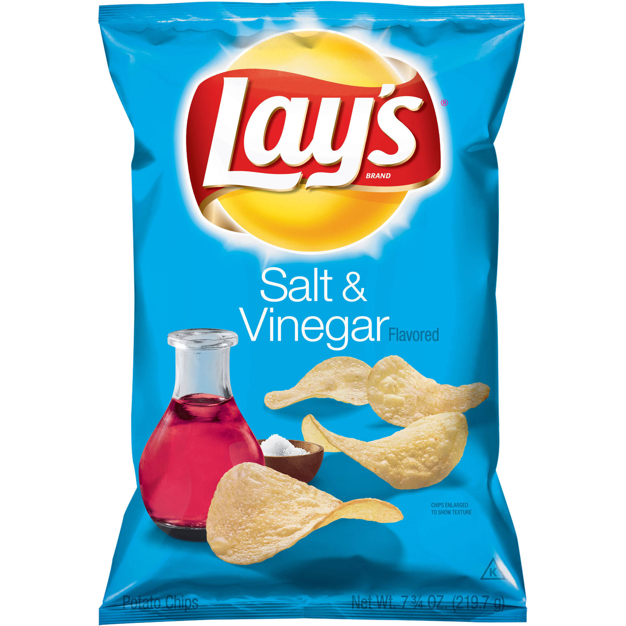 Lays Salt & Vinegar Flavored Potato Chips, 7.75 oz.