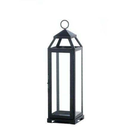Outdoor Patio Lanterns, Large Lean Sleek Metal Decorative Floor Outdoor  Lantern - Walmart.com - Outdoor Patio Lanterns, Large Lean Sleek Metal Decorative Floor