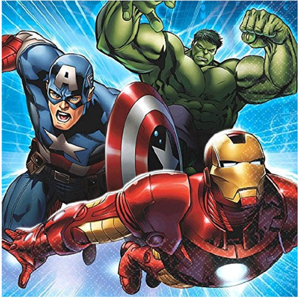 Napkins - Avengers - Small - Paper - 2Ply - 16ct - 10 X 10 in - Marvel