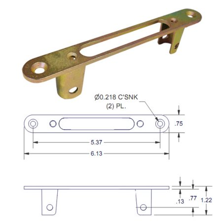 Optional Faceplate for Round Face Mortise Locks ()
