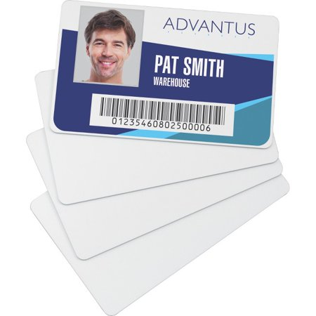 Advantus Blank PVC ID Cards - Printable - 2.13