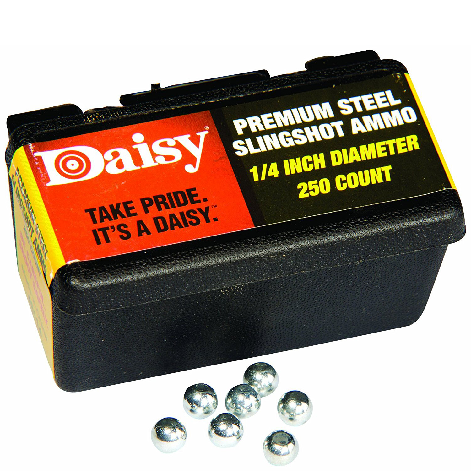 Daisy 1/4 Inch Steel Slingshot Ammo - 250 Count Box