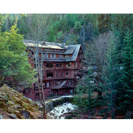 View of chalet in a forest Oregon Caves National Monument and Preserve Siskiyou National Forest Josephine County Oregon USA Poster Print by Panoramic -