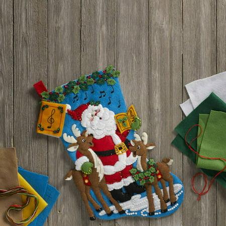 Bucilla Christmas Stocking Kits.Bucilla Seasonal Felt Stocking Kits