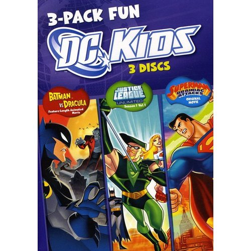 DC Kids Fun Pack: The Batman Vs. Dracula / Justice League Unlimited: Saving The World - Season 1, Vol. 1 / Superman: Brainiac Attacks (Full Frame, LIMITED)