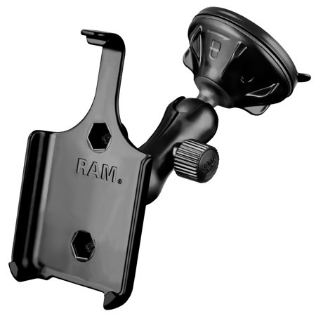 Vehicle Mount System - RAM RAP-B-166-2-AP9U RAM Mounting Systems Ram Mount Suction Cup Vehicle Mount for Apple iPhone 4, Patented universal rubber ball and socket system allows you to.., By RAM MOUNTS