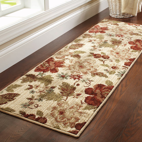 "Better Homes and Gardens Floral Olefin Runner Rug, 1'9"" x 5'6"""