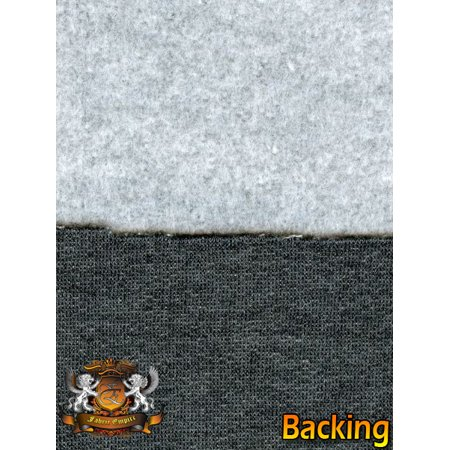 Sweatshirt Cotton Fleece Gray Fabric / 58