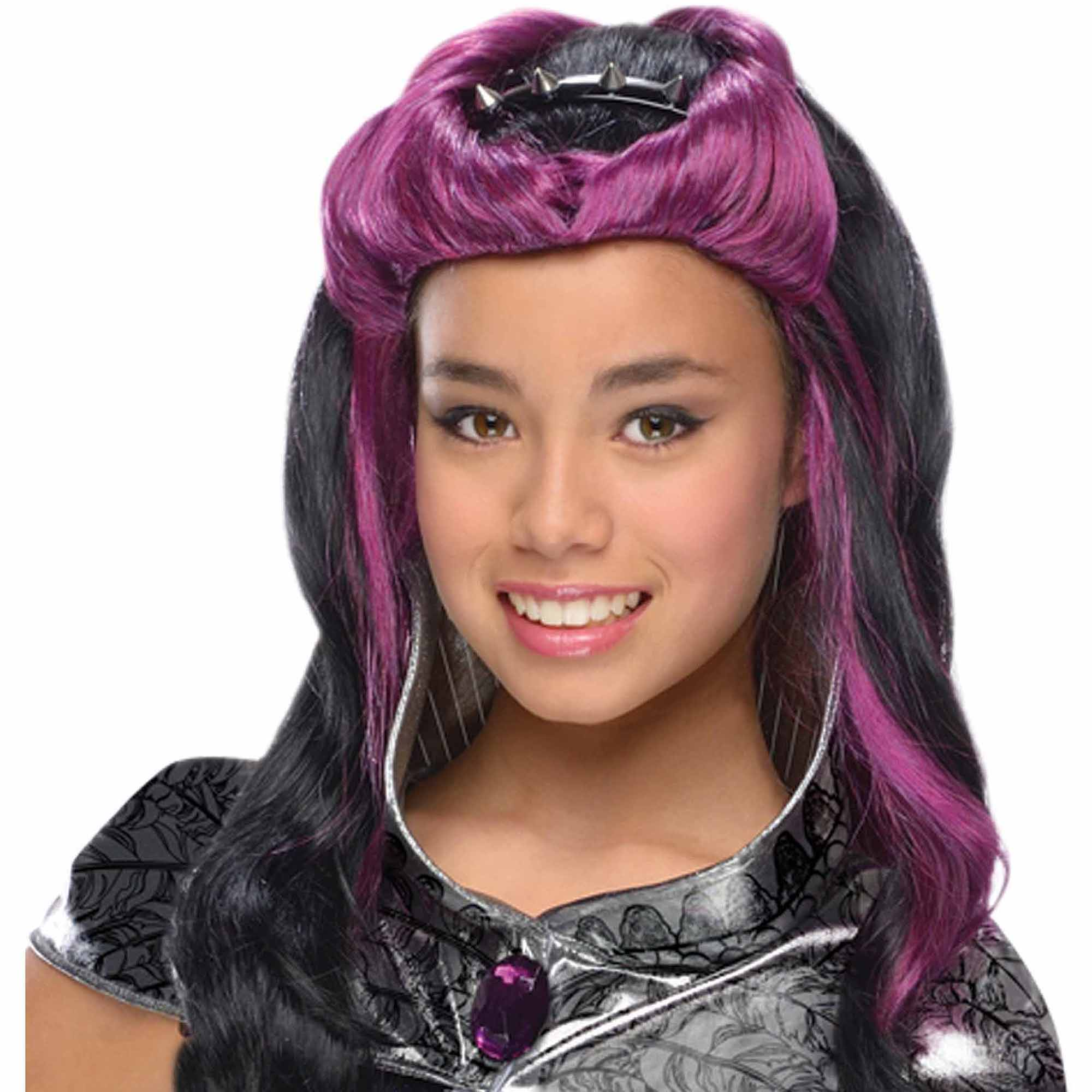 Ever After High Raven Queen Wig Child Halloween Accessory