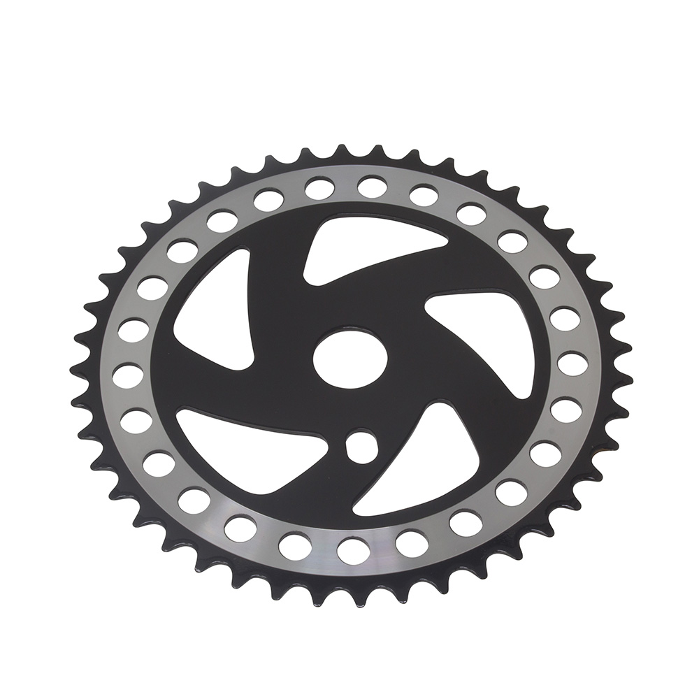 Fenix Bike Sprocket/Chainring Cw358 44T Chrome/Black, Various Thickness (1/2 X 1/8)
